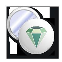 lusterko z diamentem