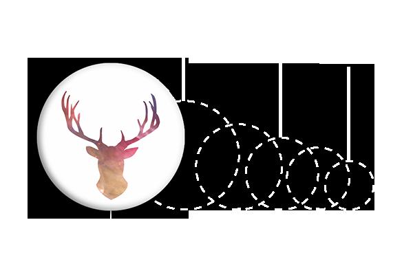 przypinka z jeleniem
