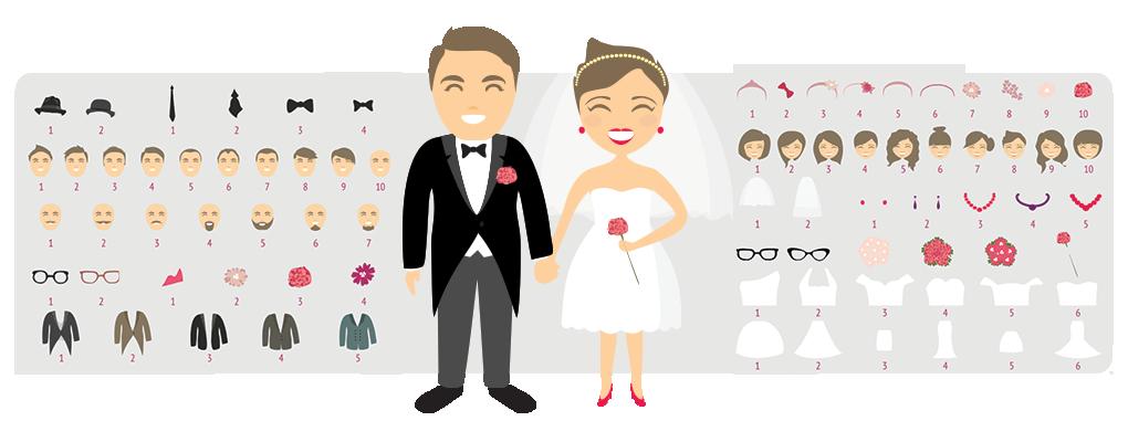 Wybierz swój wzór na przypince ślubnej